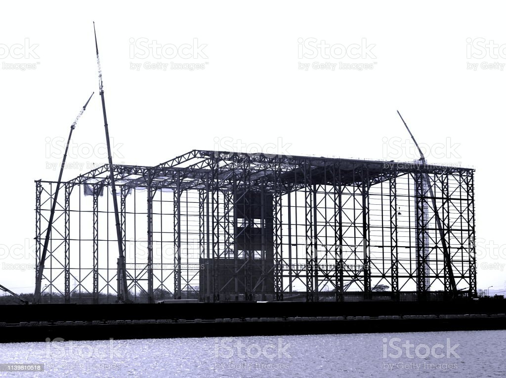 Large Steel Structure Construction stock photo