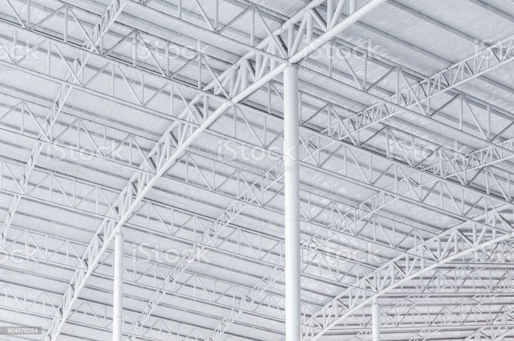 Large steel structure truss stock photo
