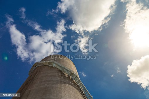 Large storage tank with stairs, Auckland, New Zealand.