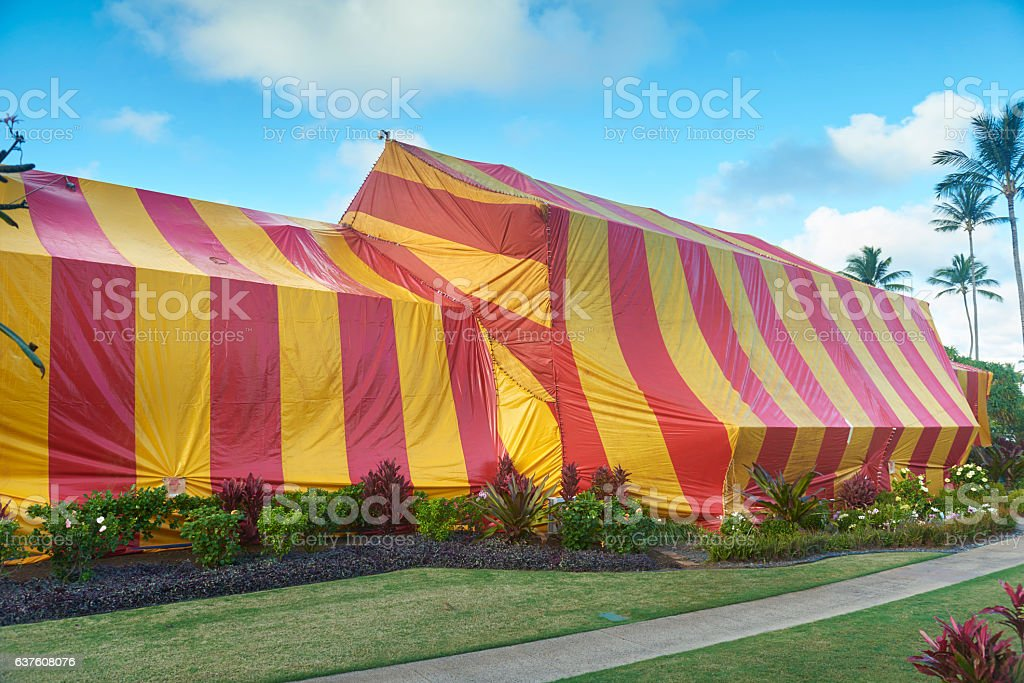 Large Striped Termite Tent Covering Hotel In Tropical Setting Stock Photo u0026 More Pictures of Bug Fumigation Tent | iStock & Large Striped Termite Tent Covering Hotel In Tropical Setting Stock ...
