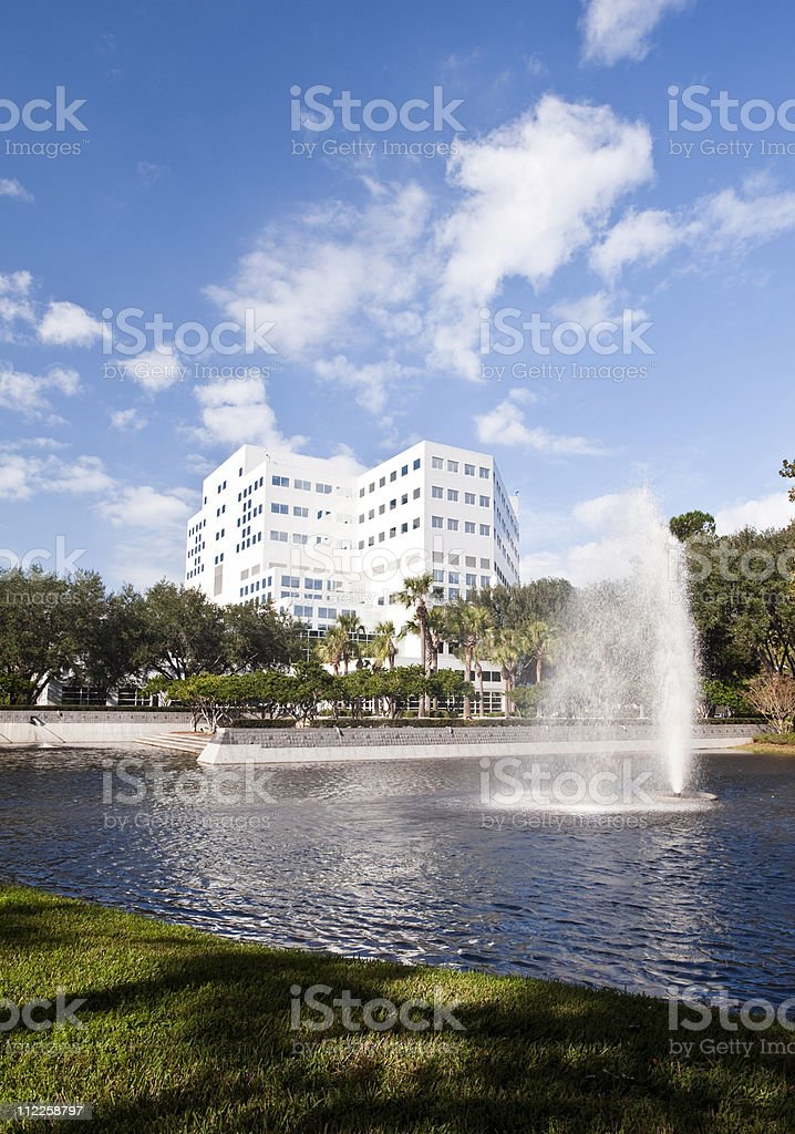 Large teaching research hospital royalty-free stock photo