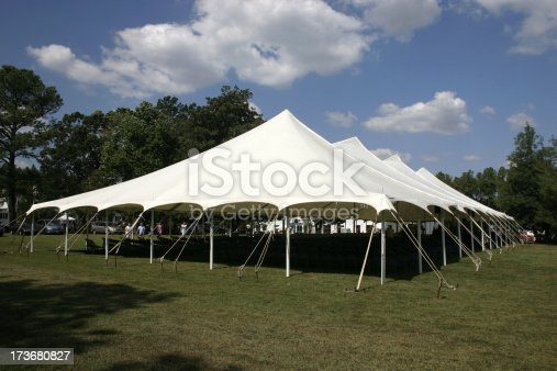 Large Canvas Tent for an outdoor church service