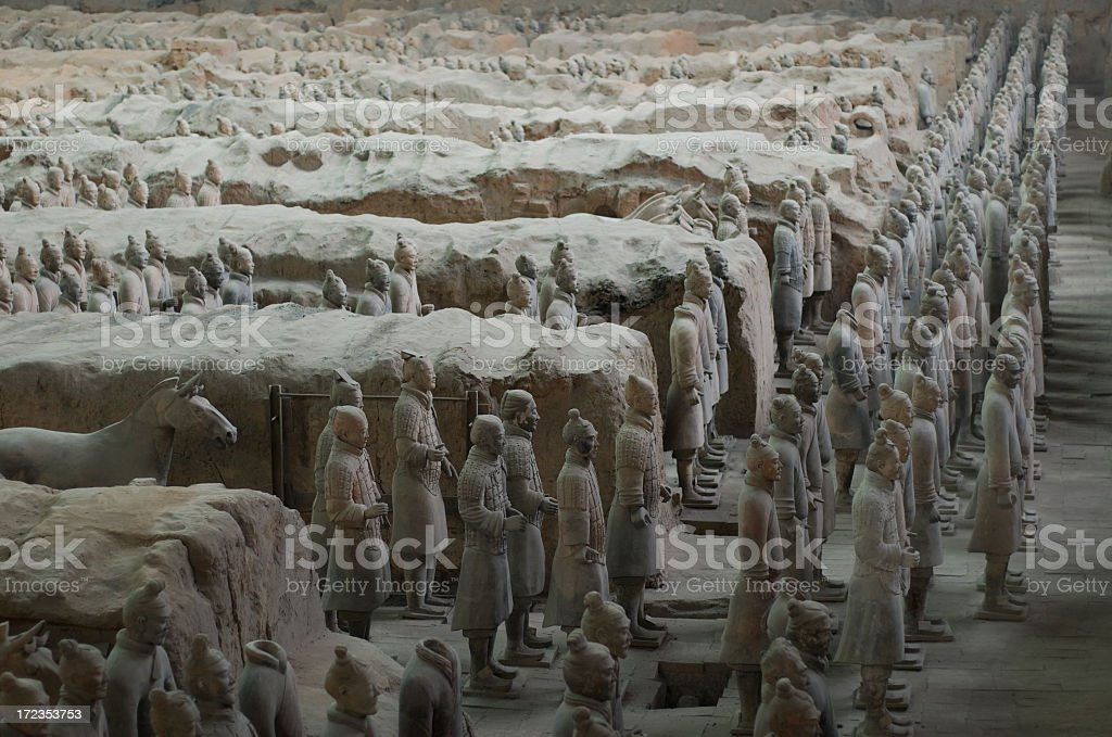 Large Terracotta Army royalty-free stock photo
