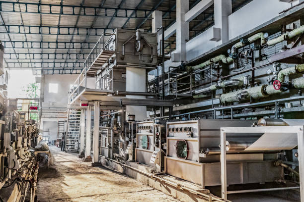 Large Textile Industry Factory stock photo