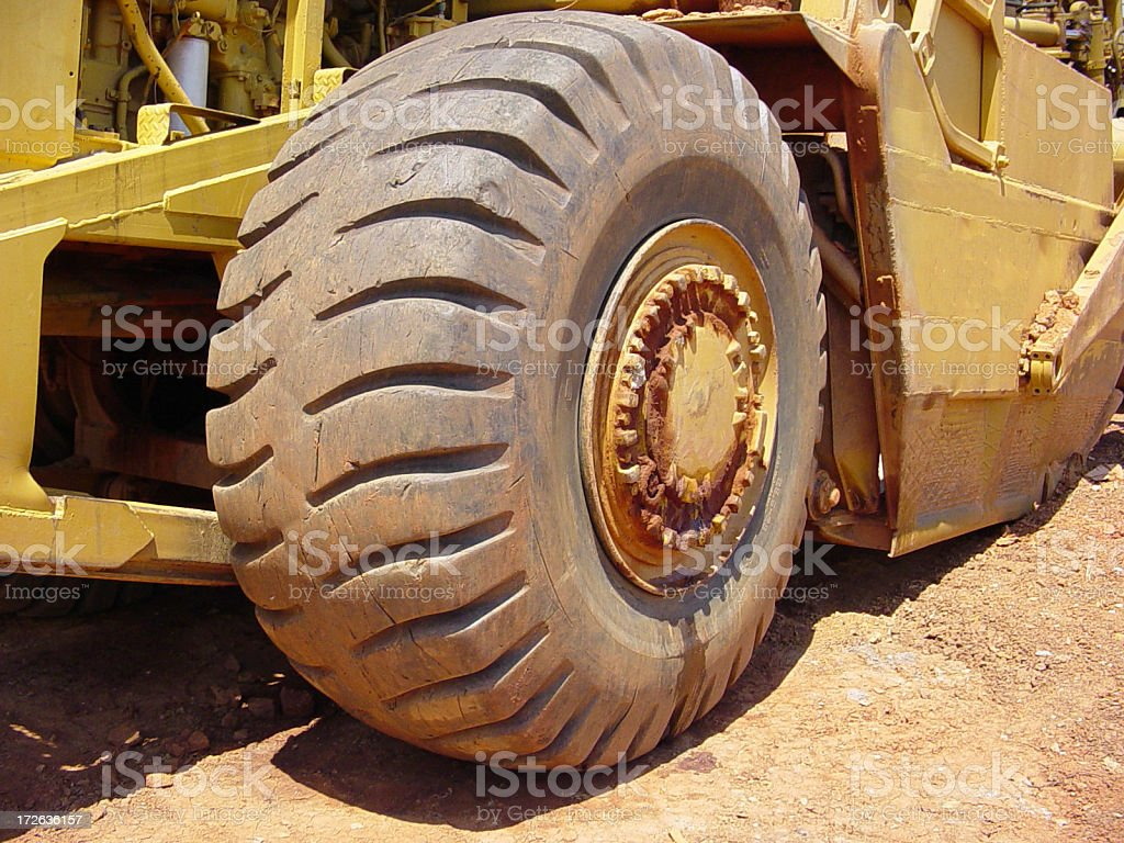 Large Tire royalty-free stock photo