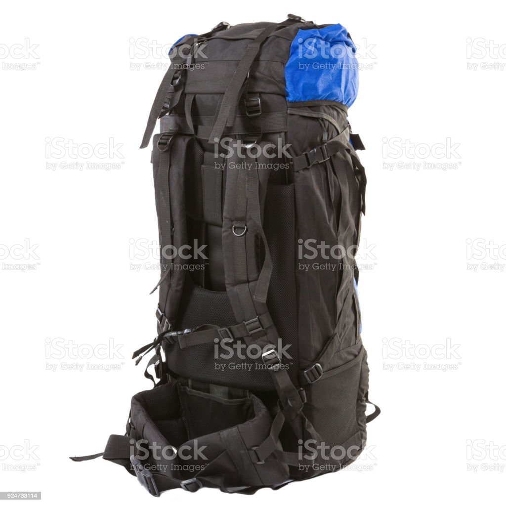 Large Tourist Backpack Color Combination On White Background Stock ... 4189dbb4dee5b