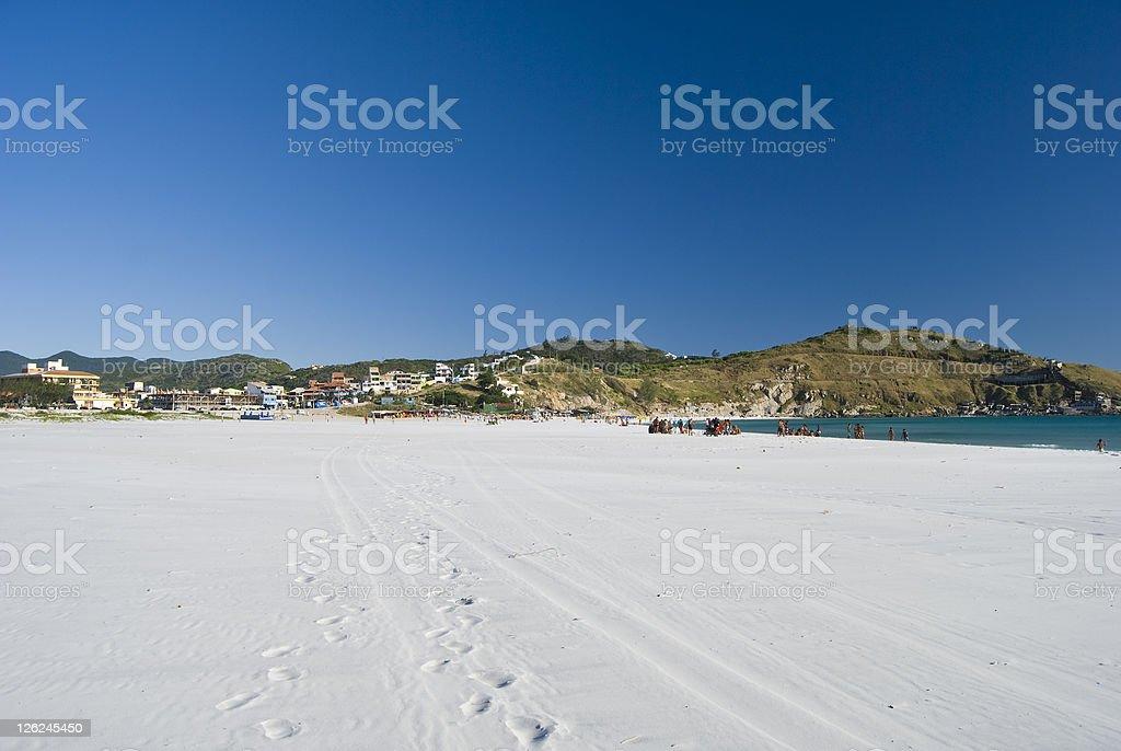 Ampla praia Tropical - foto de acervo