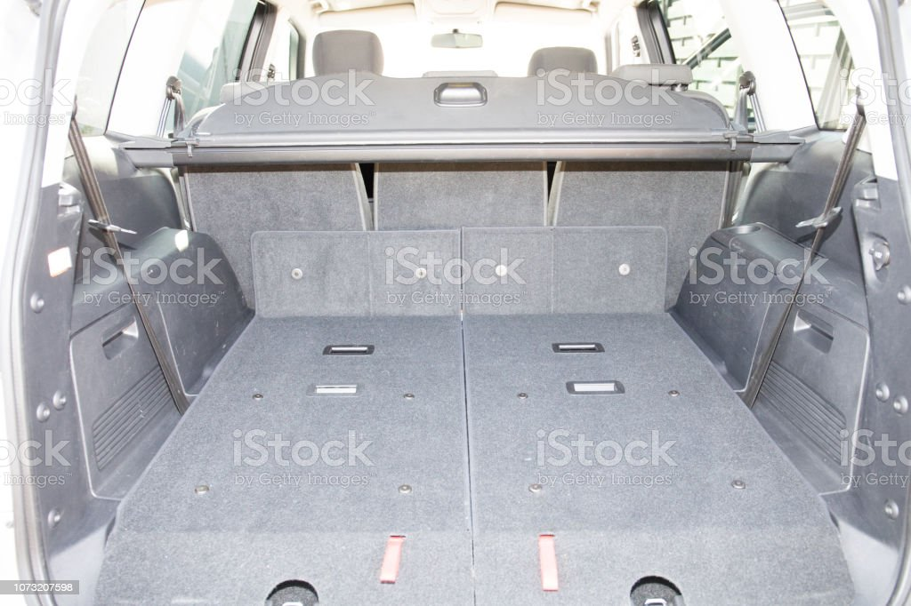 large trunk of a family car stock photo