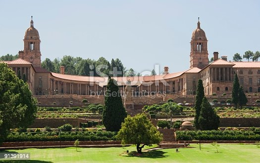 Union Buildings in Pretoria - Tshwane, as seen from the front, more recent picture #10476345 and full building evening sunset at http://tiny.ly/Dosq