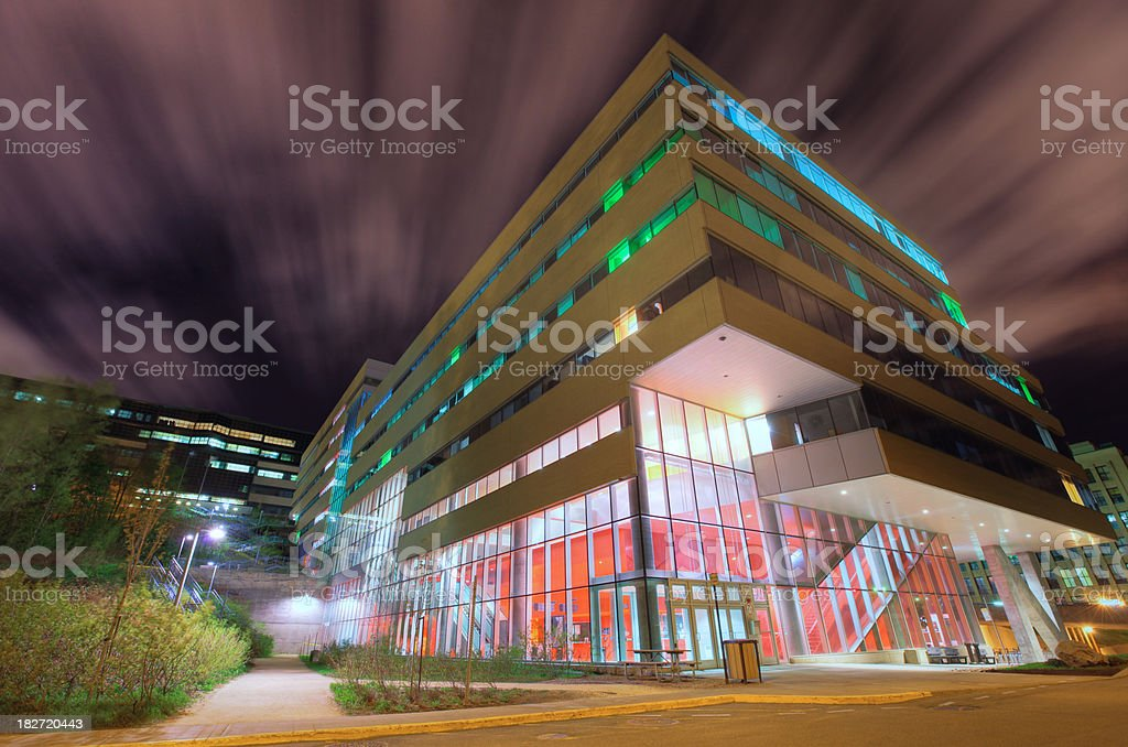 Large University School building in Montreal stock photo