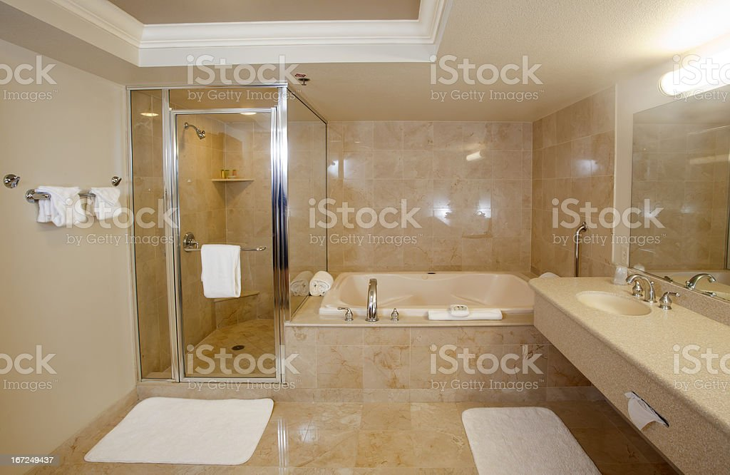 Large Upscale Bathroom stock photo