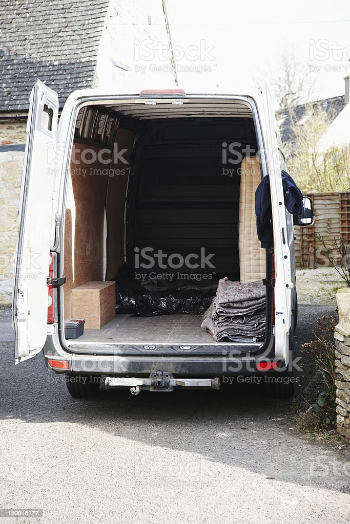 Large van empty compartment royalty-free stock photo