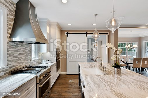 New kitchen build with granite countertops