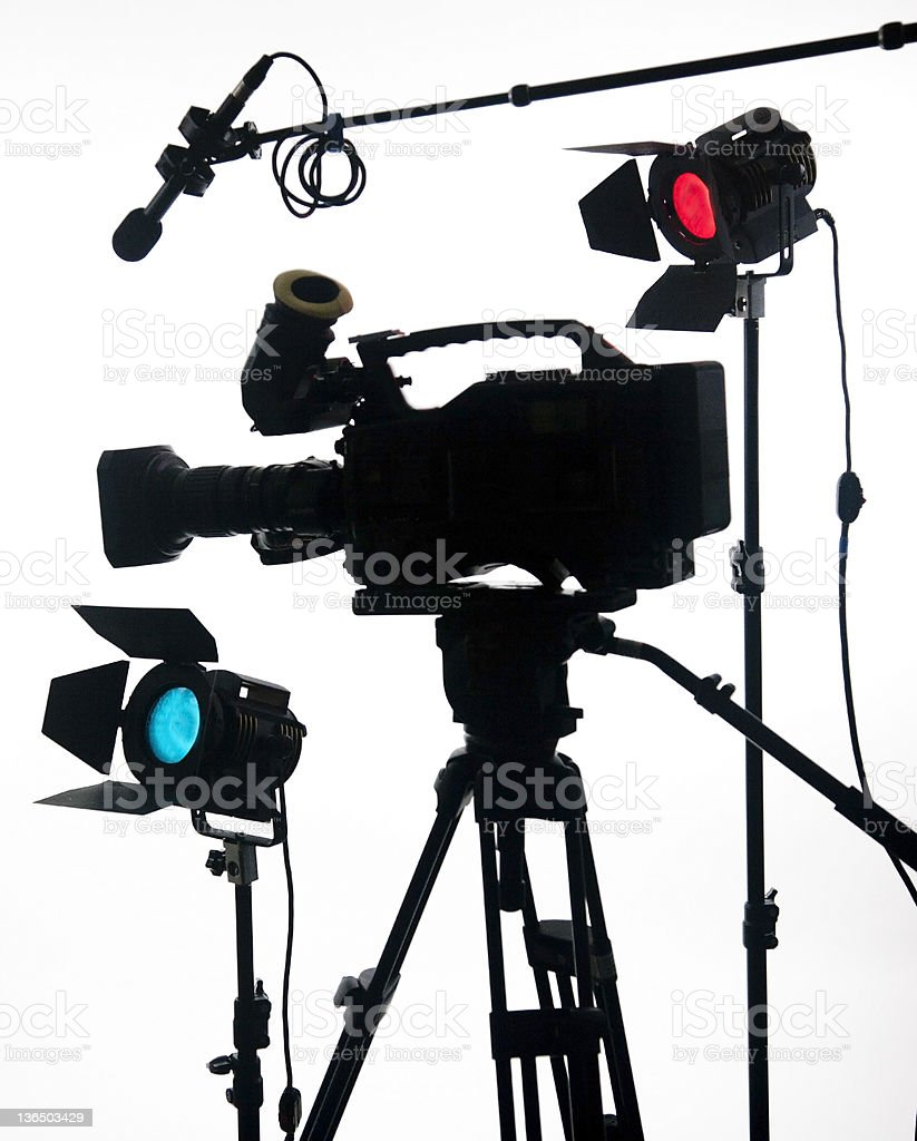 Large video camera on white royalty-free stock photo