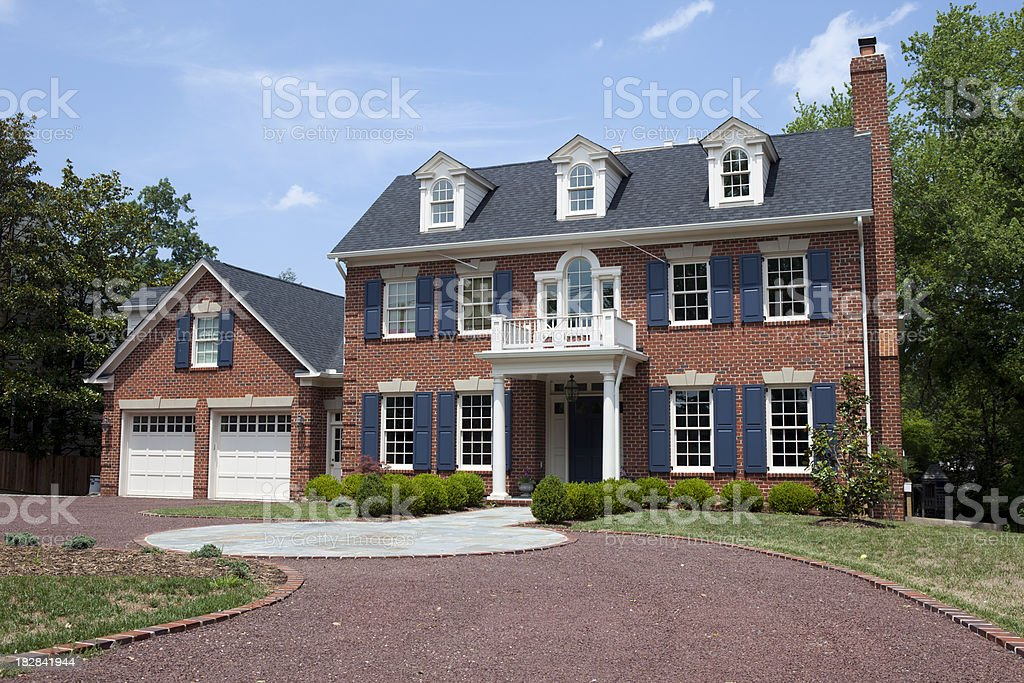 Large Washington DC Home stock photo