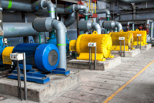 Large Water pumps with electric motors