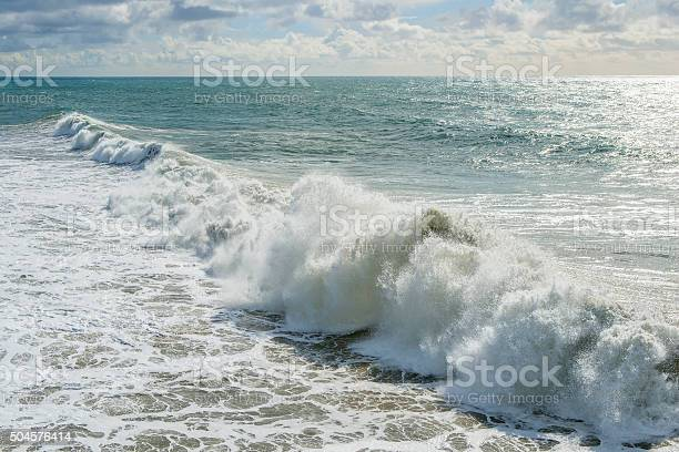 Photo of Large wave breaking onshore