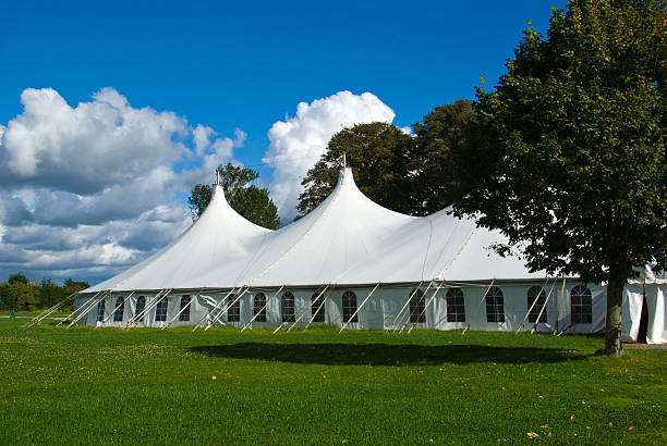 Large white party tent Party events wedding celebration banquet tent tent stock pictures, royalty-free photos & images