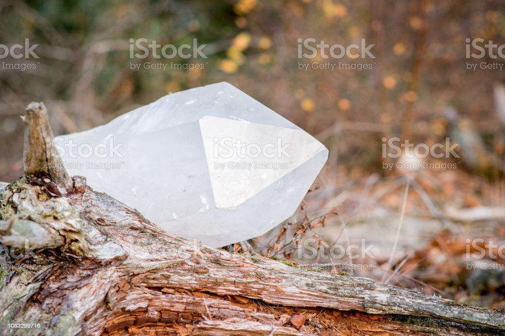 Großen weißen Quarz-Kristall – Foto