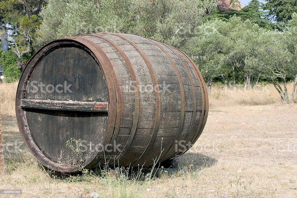 Large wine barrel royalty-free stock photo