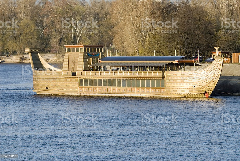 Large wooden boat royalty-free stock photo