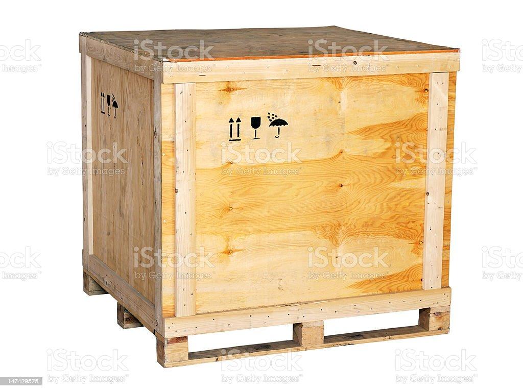 large wooden box stock photo