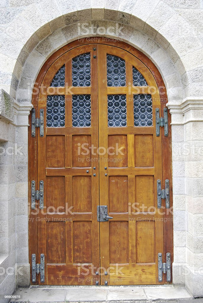 Large Wooden Doors royalty-free stock photo