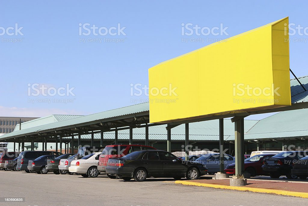 Large Yellow Commercial Sign stock photo