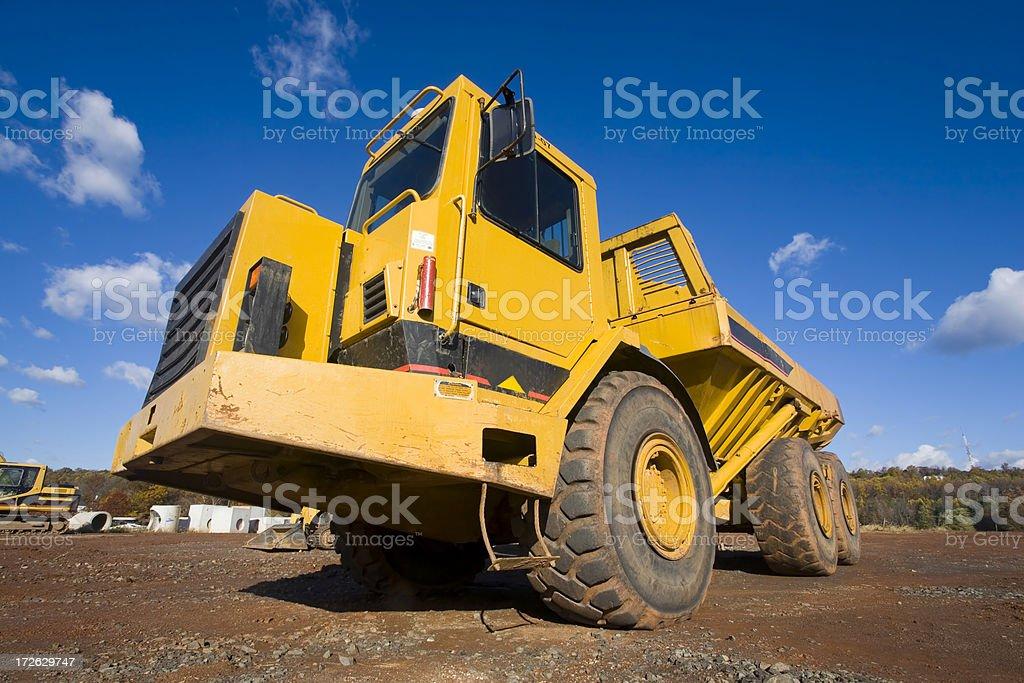 Large Yellow Dump Truck royalty-free stock photo