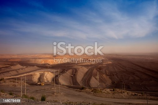 istock largecoal  mining site at Pingshuo 148079449