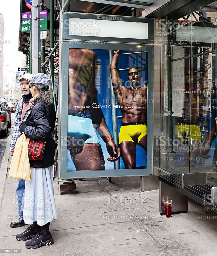 Larger Than Life Advertising in NYC royalty-free stock photo