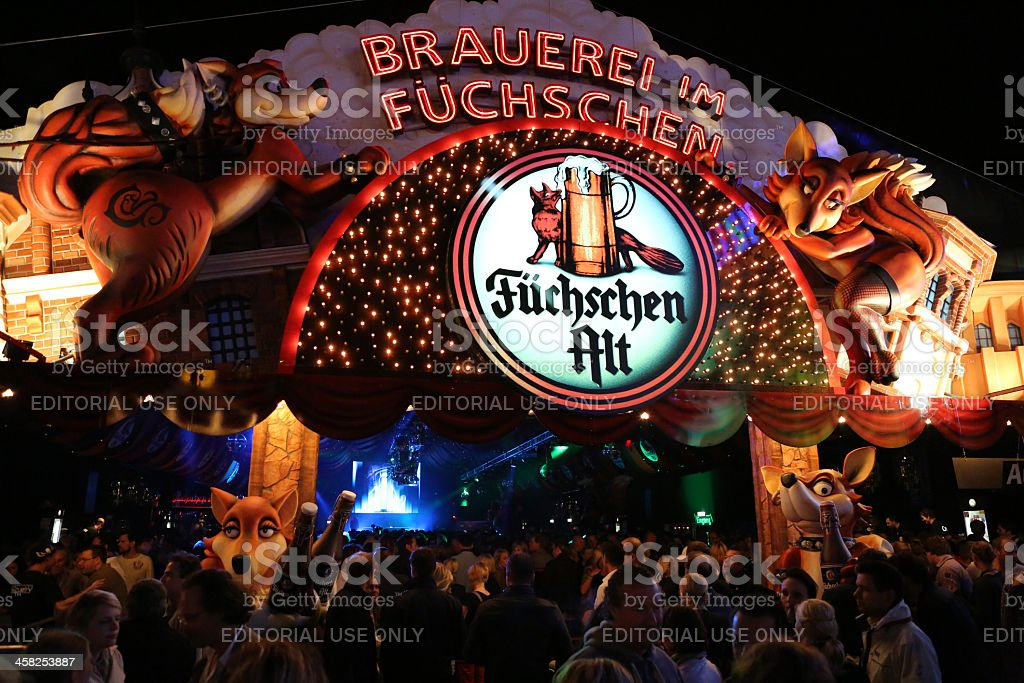Largest Fair on the Rhine beer tent Dusseldorf royalty-free stock photo