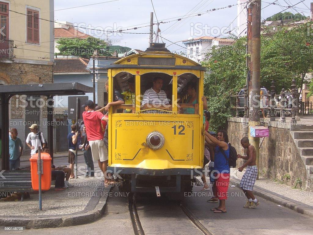 Largo do guimaraes at santa teresa, Rio de Janeiro, Brazil stock photo