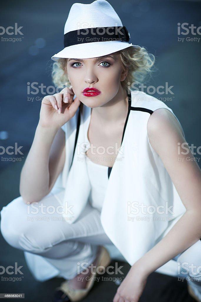 Лариса в шляпе royalty-free stock photo