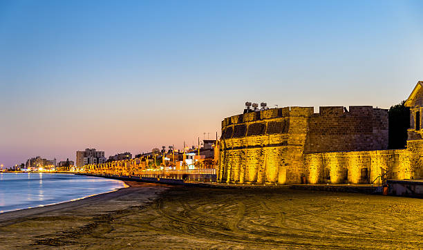 Larnaca Castle, the southern coast of Cyprus stock photo