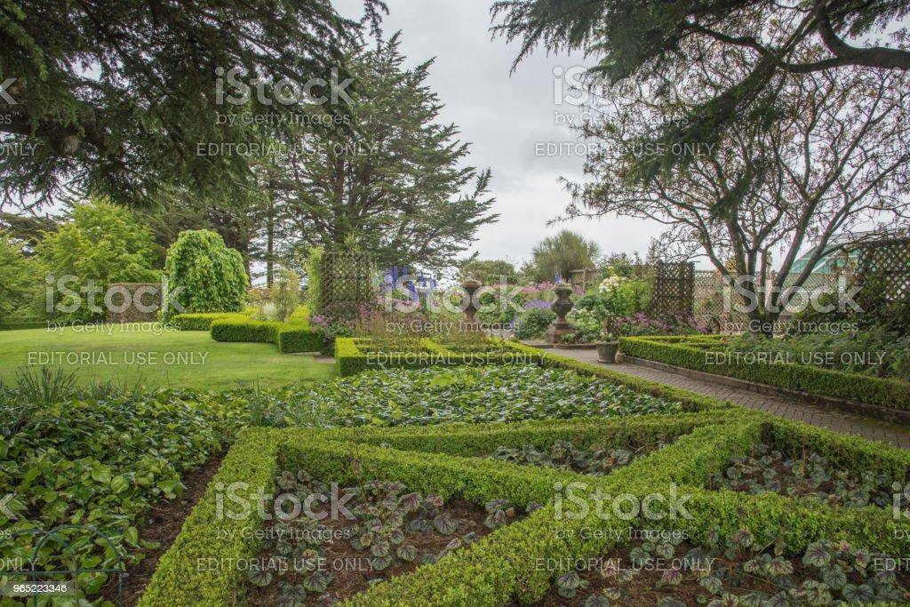 Larnach Castle Garden zbiór zdjęć royalty-free