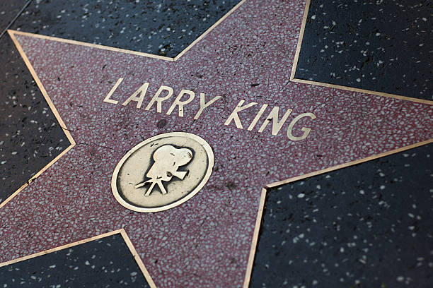 larry king star on the hollywood walk of fame - larry king 個照片及圖片檔