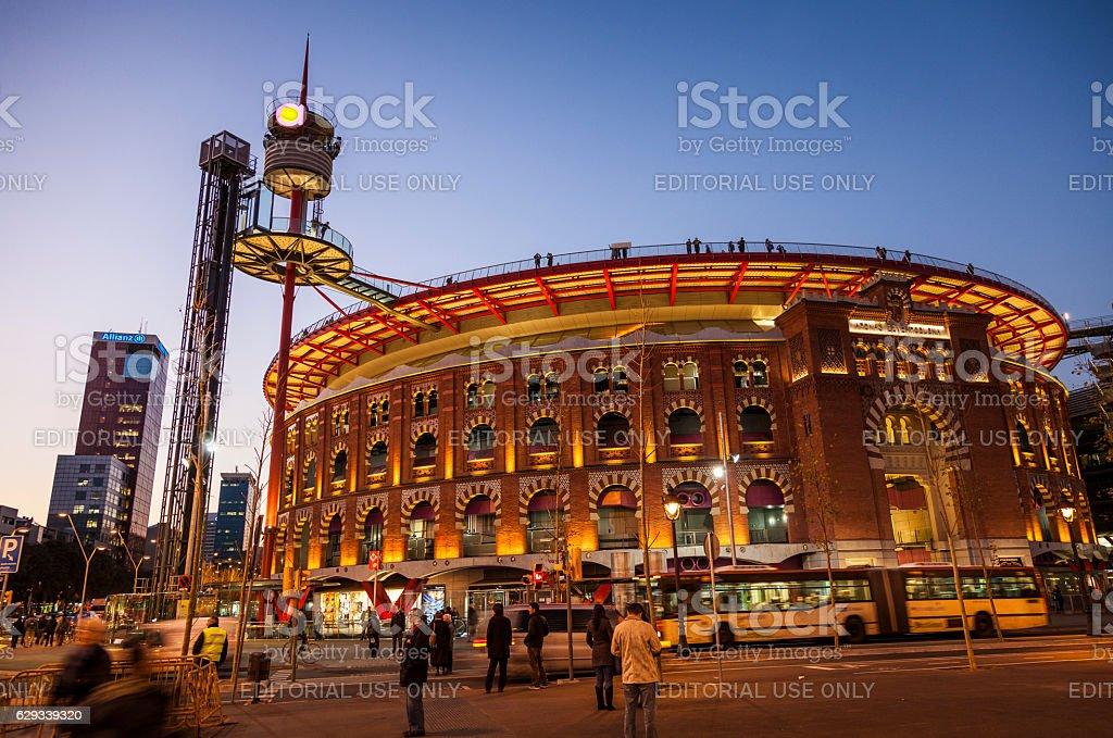 Las Arenas shopping center stock photo