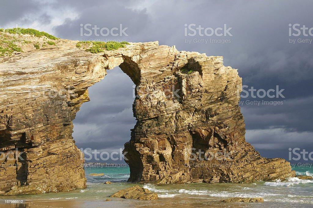 Las Catedrales beach, Ribadeo, Spain stock photo