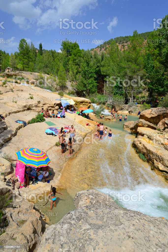 Las Chorreras De Enguidanos Natural Place Visited By Numerous People