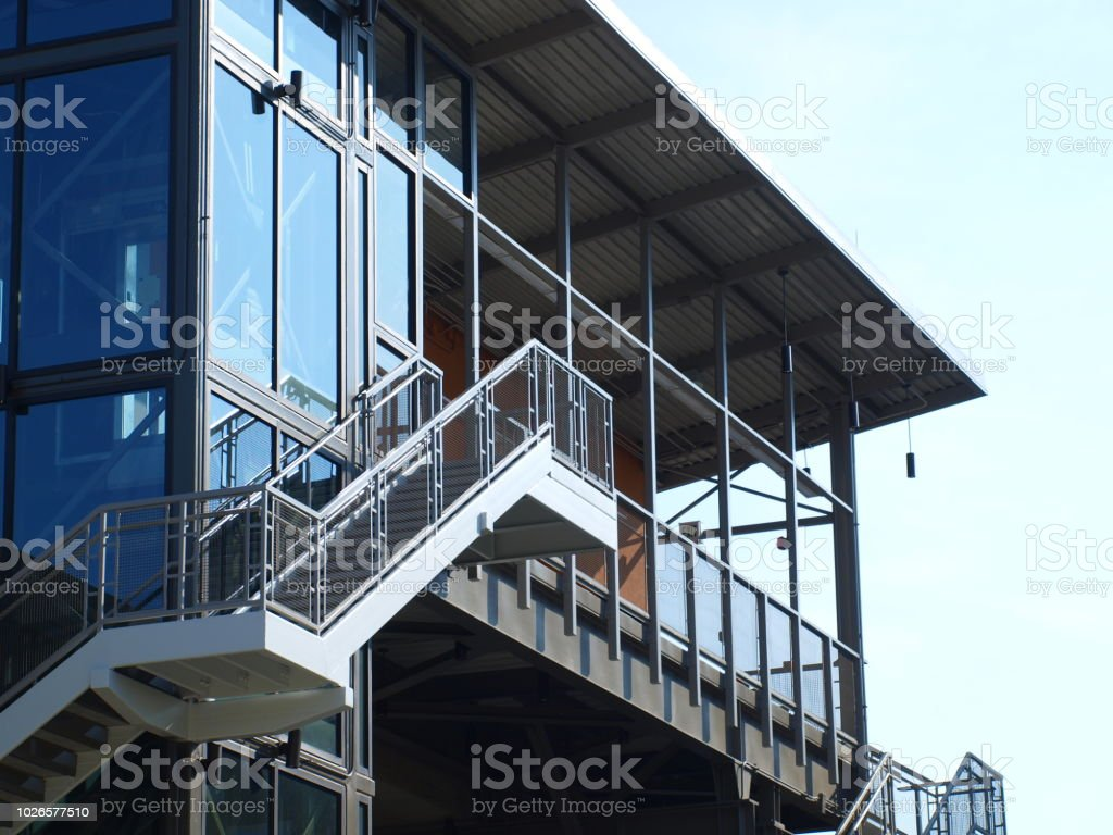 Las Colinas Monorail Gets New Station stock photo
