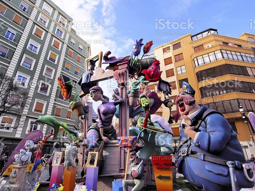 Las Fallas, Valencia, Spain stock photo