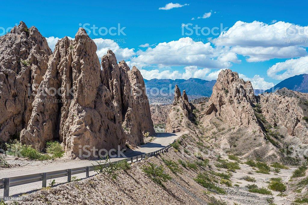 Las Flechas Gorge in Salta, Argentina. stock photo