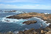 Carmel California and las Lobos Nature Reserve on the Pacific Coast