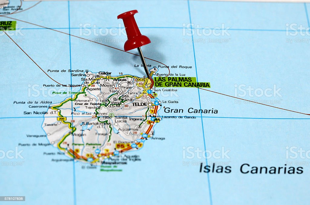 Aeroporto Gran Canaria : Las palmas on gran canaria in spain fotografie stock e