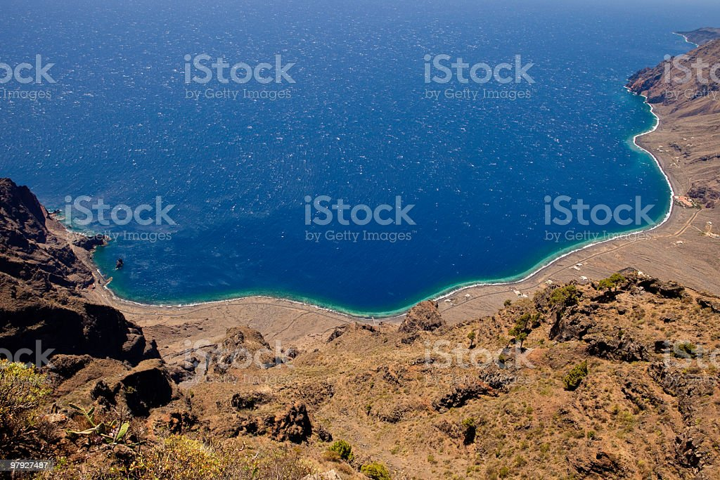 Las Playas Natural Monument, El Hierro royalty-free stock photo