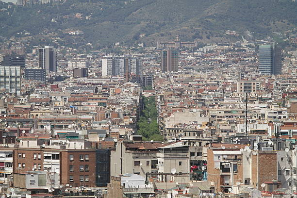 Las Ramblas in Barcelona stock photo