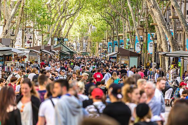 Las Ramblas in Barcelona. – Foto