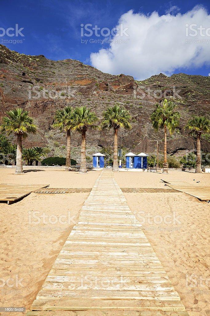 Las Teresitas Beach, Tenerife royalty-free stock photo