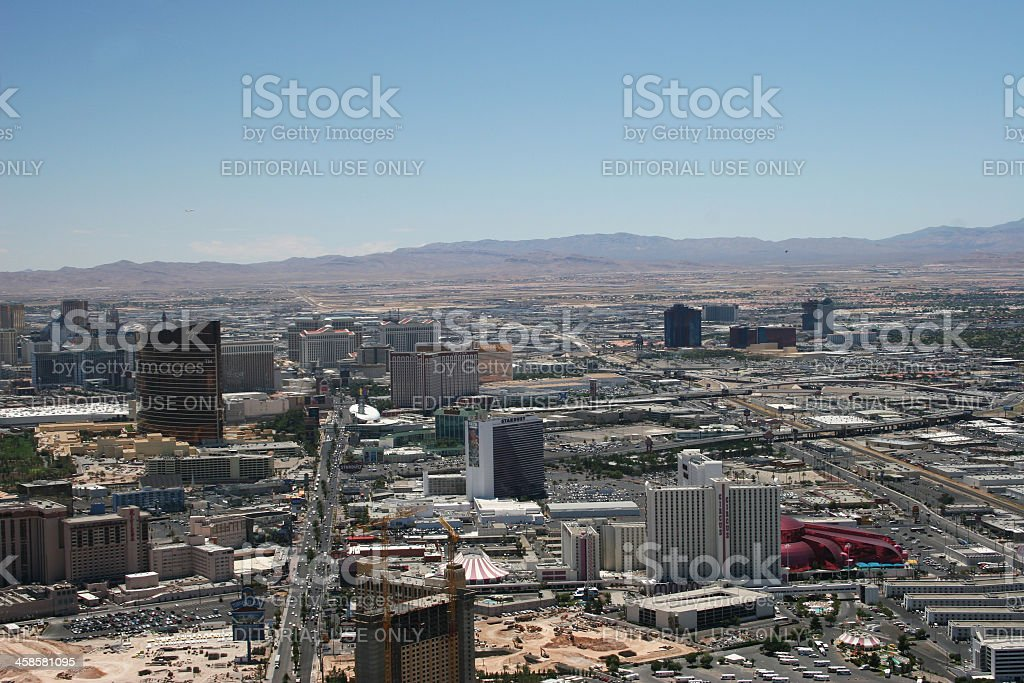 Las vegas aerial view stock photo